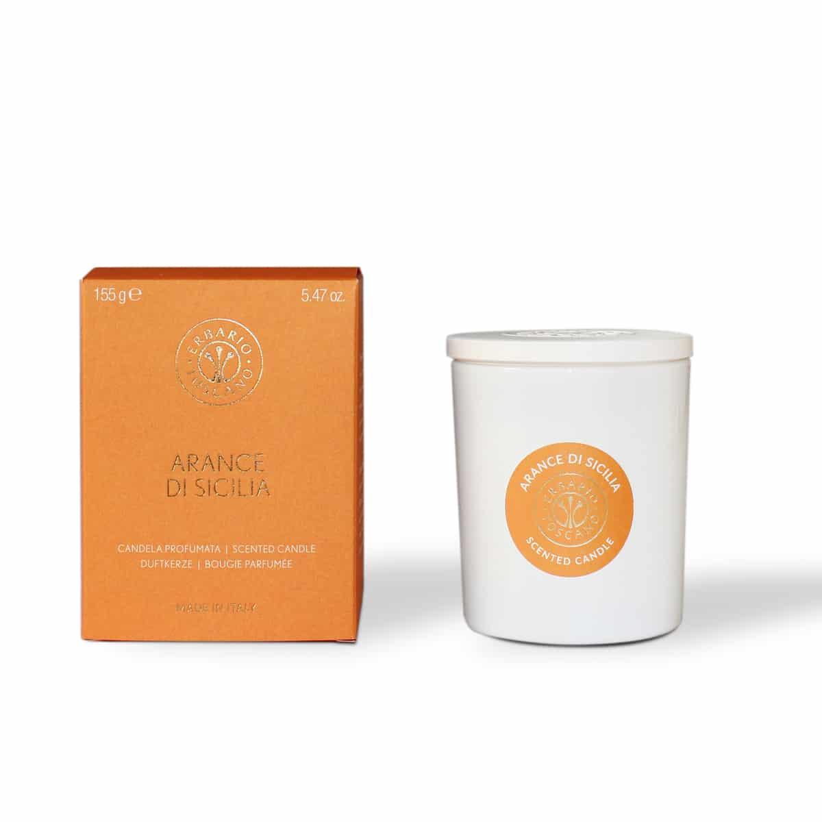 Sicilian orange candle erbario toscano